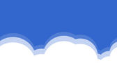 simple line drawn clouds shapes
