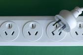 Australian and New Zealand three pin mains 230v power socket board and plug
