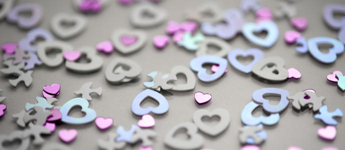 valentine love heart shapes